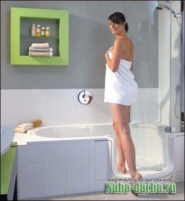 Душевые кабины с ванной