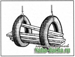 Приспособление из шин