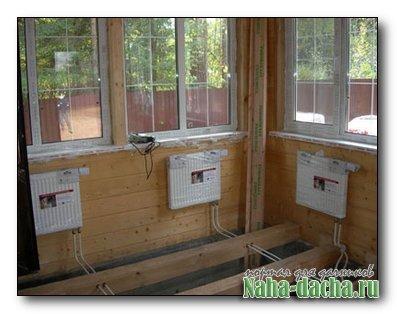 Конвекторы в деревяном доме