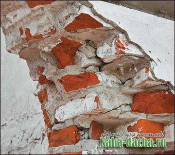 трещины в кирпичном доме