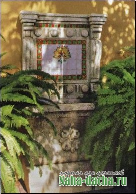 фонтан на даче пример