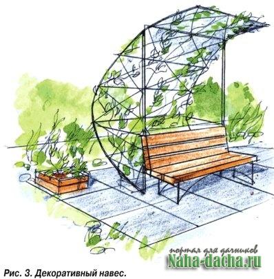 озеленение сада-навес