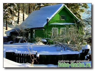 Дачное строительство зимой