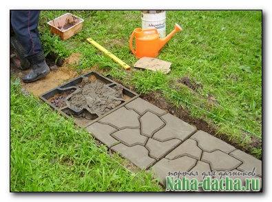 Как я делала плитку для садовой дорожки