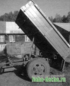 Тракторный прицеп-самосвал своими руками