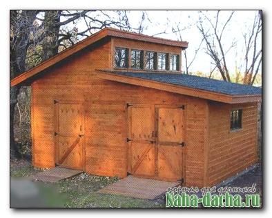 Каркасный домик на дачном участке