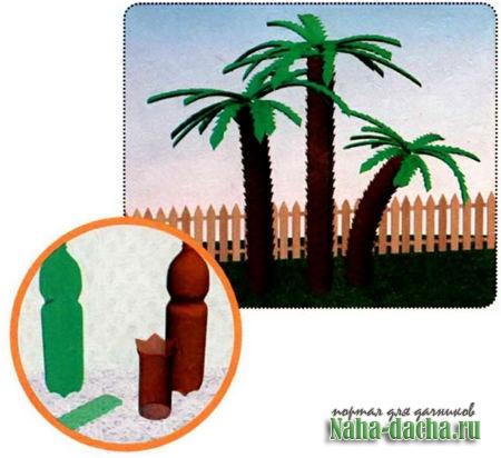 Пластиковые бутылки для ландшафтного дизайна