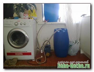 Как подключить стиральную машину автомат на даче