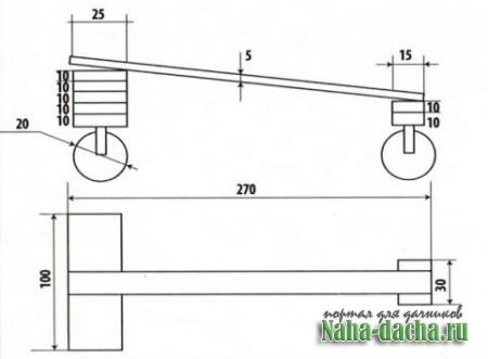 Устройство для перевозки бруса чертеж