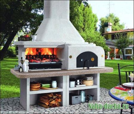 Что лучше для дачи каменная печь или металлические барбекю