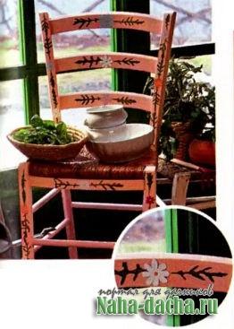 Старые стулья превращаем в клумбы