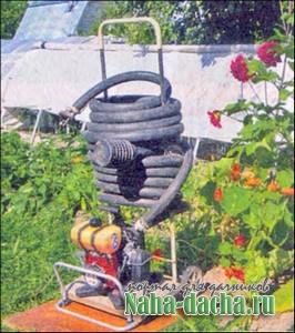 Водопровод на тележке