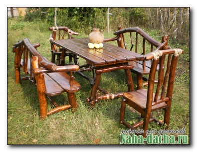 Садовая мебель из веток
