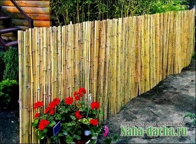 Декоративные изгороди из природных материалов