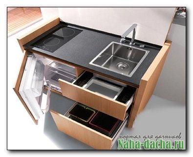Мини-кухня в шкафу