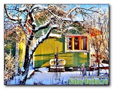 На даче в зимний период