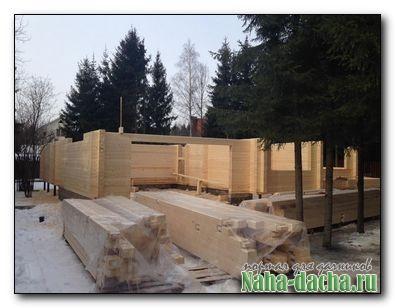 Дачный дом строительство зимой
