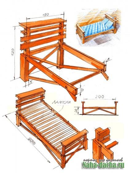 Кровать для мансарды