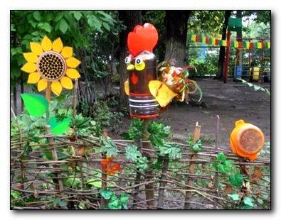 Зоопарк на огороде из пластиковых бутылок