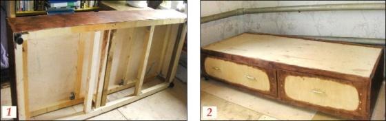 Вместительная кровать-топчан