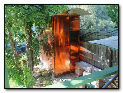 Строительство летнего душа на даче