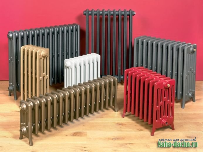 типы конструкций радиаторов