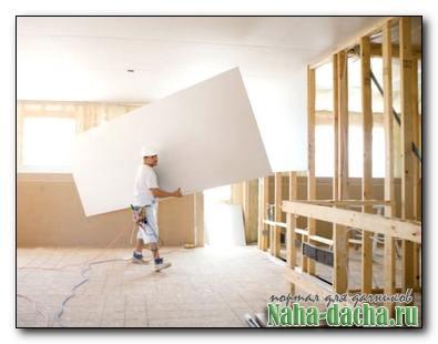 Преимущества гипсокартона во время ремонта на даче