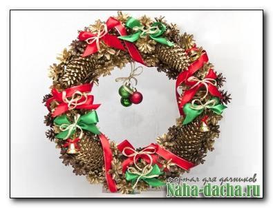 Рождественский венок и елка своими руками