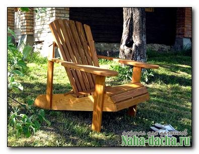 Как сделать кресло-шезлонг для дачи