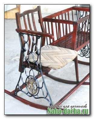 Кресло-качалка с колыбелью своими руками