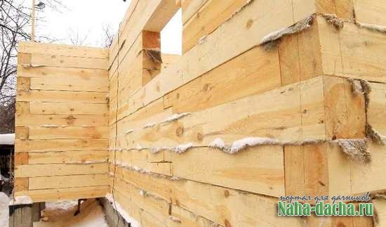 дом из бруса для дачи своими рукам
