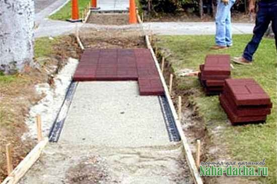 тротуарная плитка на дачном участке