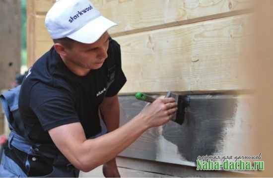 Защита фасада деревянной дачи