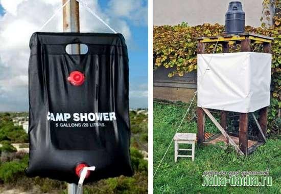 Выбираем летний душ для дачи