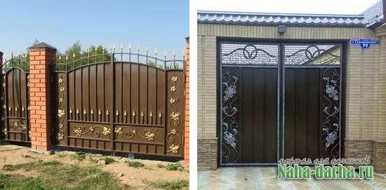 Въездные ворота для дачи-фото