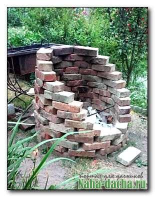 Как быстро построить мангал из кирпича