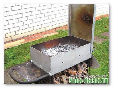 Изготовление железного мангала  с кирпичным дном