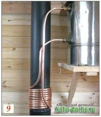 Как сделать буржуйку с водонагревателем своими руками