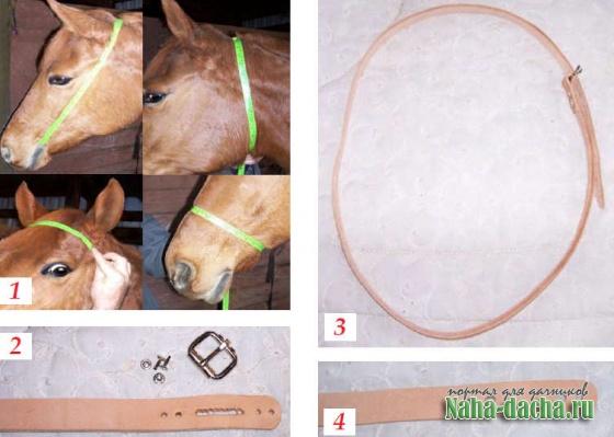Как сделать кожаную уздечку для лошади своими руками