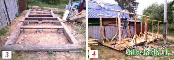 Как построить сарай на склоне