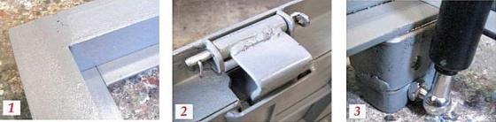 Металлическая крышка люка подвала с амортизатором