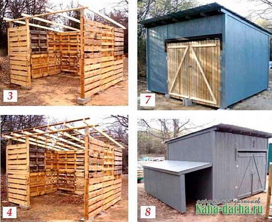 Как построить сарай из поддонов своими руками