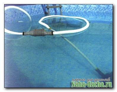 приспособление для очистки бассейна