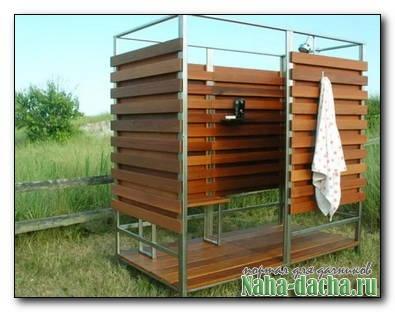 Как построить летний душ