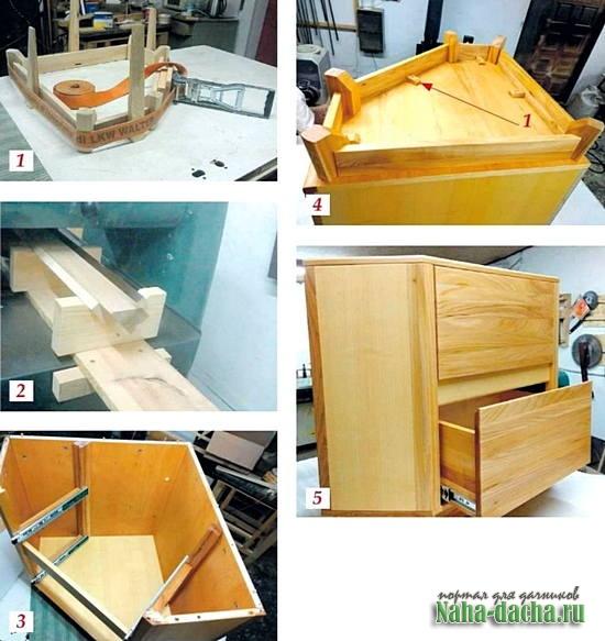 Изготовление углового комода «Алмаз»